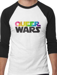 Queer Wars Rainbow Stars Parody  Men's Baseball ¾ T-Shirt