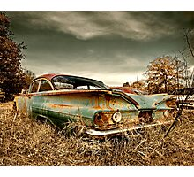 Abandoned 1960 Chevy Biscayne Photographic Print