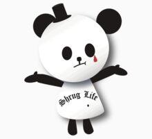 Shrug Life panda One Piece - Short Sleeve
