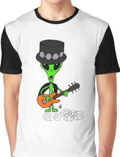 Little Greenie the Alien Discovers Rock n' Roll! Graphic T-Shirt
