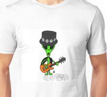 Little Greenie the Alien Discovers Rock n' Roll! Unisex T-Shirt