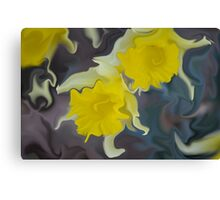 Daffodil Art Canvas Print