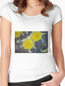 Daffodil Art Women's Fitted Scoop T-Shirt