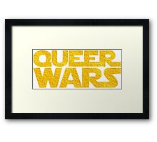 Queer Wars LGBT Parody  Framed Print