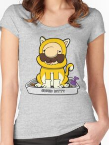 Super Meowrio! Women's Fitted Scoop T-Shirt