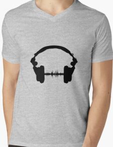 Music is Life Mens V-Neck T-Shirt