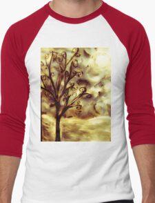 tree in the wind (firelight) Men's Baseball ¾ T-Shirt
