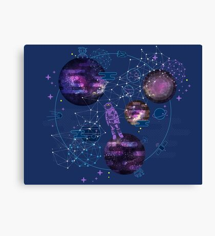Astronaut Lost in Space Canvas Print