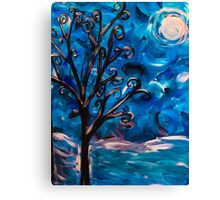 tree in the wind (light reflect) Canvas Print