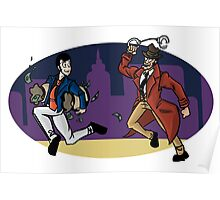 Lupin III- lupin and zenigata Poster