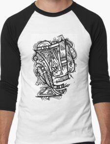 TikiOgre Abstract Zen Design Men's Baseball ¾ T-Shirt