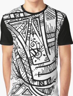 TikiOgre Abstract Zen Design Graphic T-Shirt