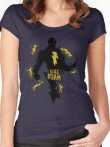 Black Adam Splatter Art Women's Fitted Scoop T-Shirt