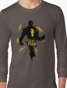 Black Adam Splatter Art Long Sleeve T-Shirt