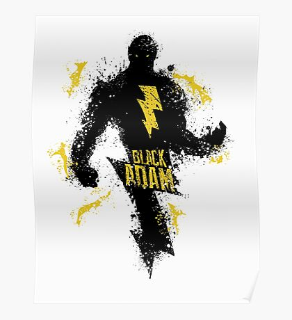 Black Adam Splatter Art Poster