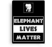 Elephant Lives Matter Canvas Print