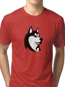 HUSKY black Tri-blend T-Shirt