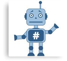 Hashtag robot Canvas Print