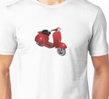 Moped in red Unisex T-Shirt