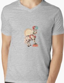 VINTAGE PONY Mens V-Neck T-Shirt