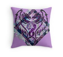 twin tails Throw Pillow