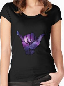 Galaxy Shaka Women's Fitted Scoop T-Shirt