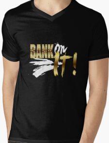 """WWE SASHA BANKS """"BANK ON IT!"""" Mens V-Neck T-Shirt"""