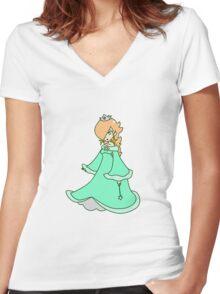 Rosalina Women's Fitted V-Neck T-Shirt