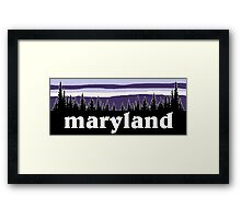 Purple Maryland Framed Print