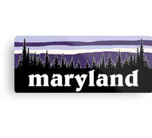 Purple Maryland Metal Print