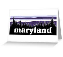 Purple Maryland Greeting Card