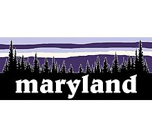Purple Maryland Photographic Print