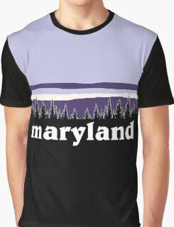 Purple Maryland Graphic T-Shirt