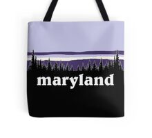 Purple Maryland Tote Bag