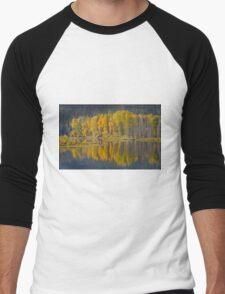 Autumn in the Tetons Men's Baseball ¾ T-Shirt