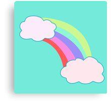 Rainbow Clouds Canvas Print