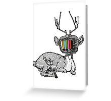 Television Deer Greeting Card