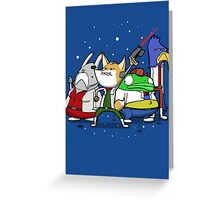 I see 'em up ahead. Let's rock 'n' roll! Greeting Card