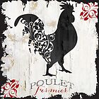Ferme Rooster Poulet Damask by mindydidit