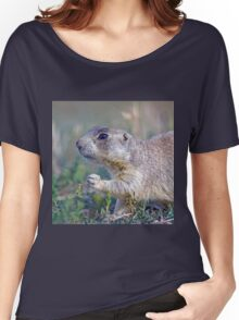 Black-tailed Prairie Dog in Meadow Women's Relaxed Fit T-Shirt