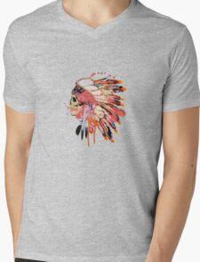 Indie skull Mens V-Neck T-Shirt