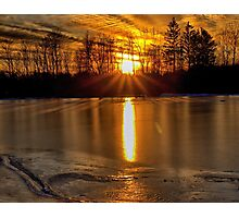 Fire on Ice Photographic Print