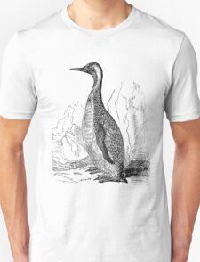 Vintage King Penguin Bird Illustration Retro 1800s Black and White Penguins Birds Image T-Shirt
