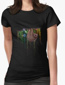 That Sloth Womens Fitted T-Shirt