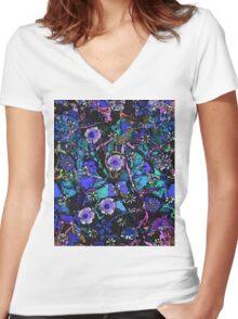 Blue Garden Women's Fitted V-Neck T-Shirt