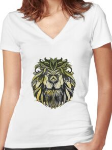 Irie Lion Women's Fitted V-Neck T-Shirt