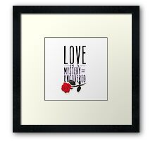 Love is layered. Framed Print