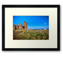 New Slains Castle at Moonlight (Cruden Bay, Aberdeenshire, Scotland) Framed Print