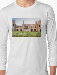 New Slains Castle Rear View (Cruden Bay, Aberdeenshire, Scotland) Long Sleeve T-Shirt
