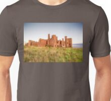 New Slains Castle in Red Fescue Grasses (Cruden Bay, Aberdeenshire, Scotland) Unisex T-Shirt
